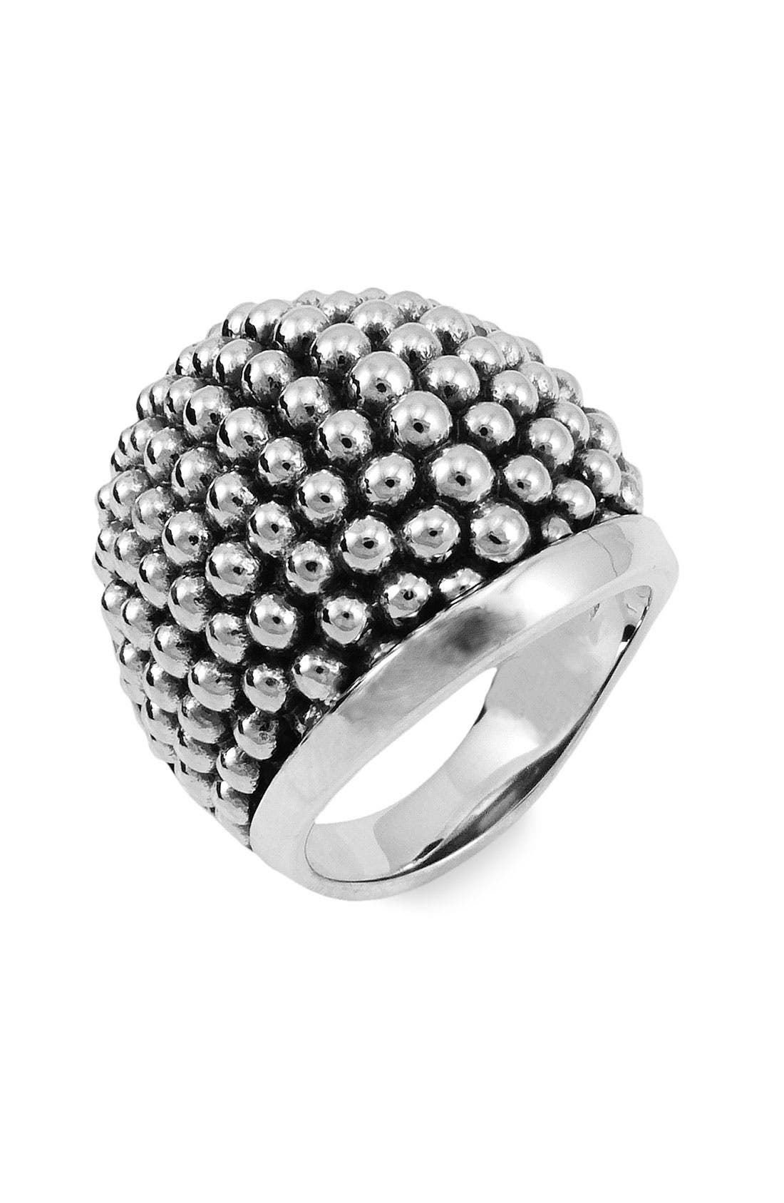Alternate Image 1 Selected - LAGOS Sterling Silver Caviar Dome Ring