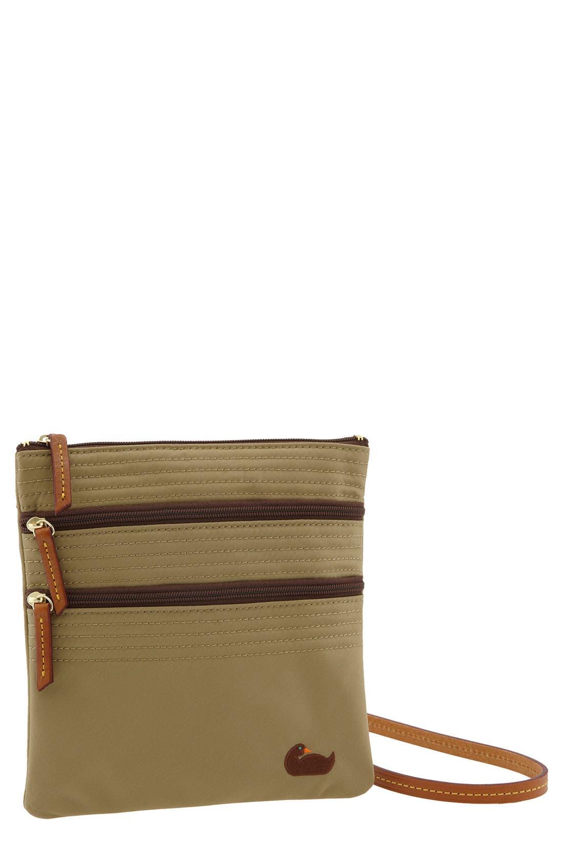 Alternate Image 1 Selected - Dooney & Bourke 'Triple Zip' Nylon Crossbody Bag