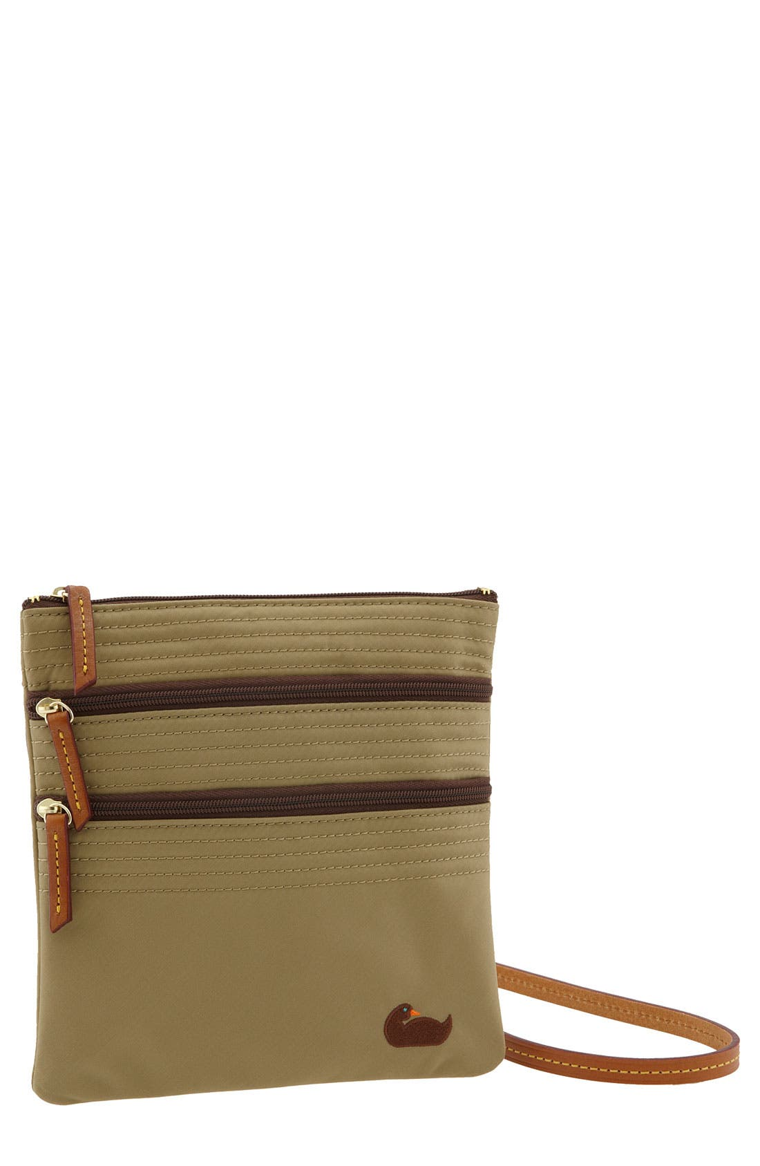 Main Image - Dooney & Bourke 'Triple Zip' Nylon Crossbody Bag