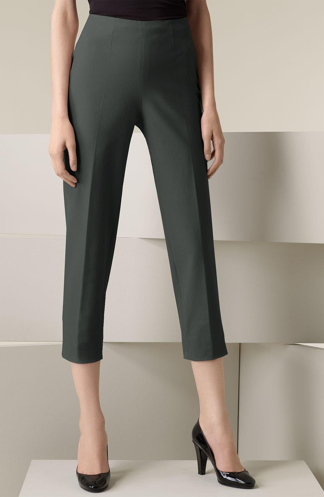 Alternate Image 1 Selected - Piazza Sempione 'Audrey' Stretch Cotton Gabardine Capris