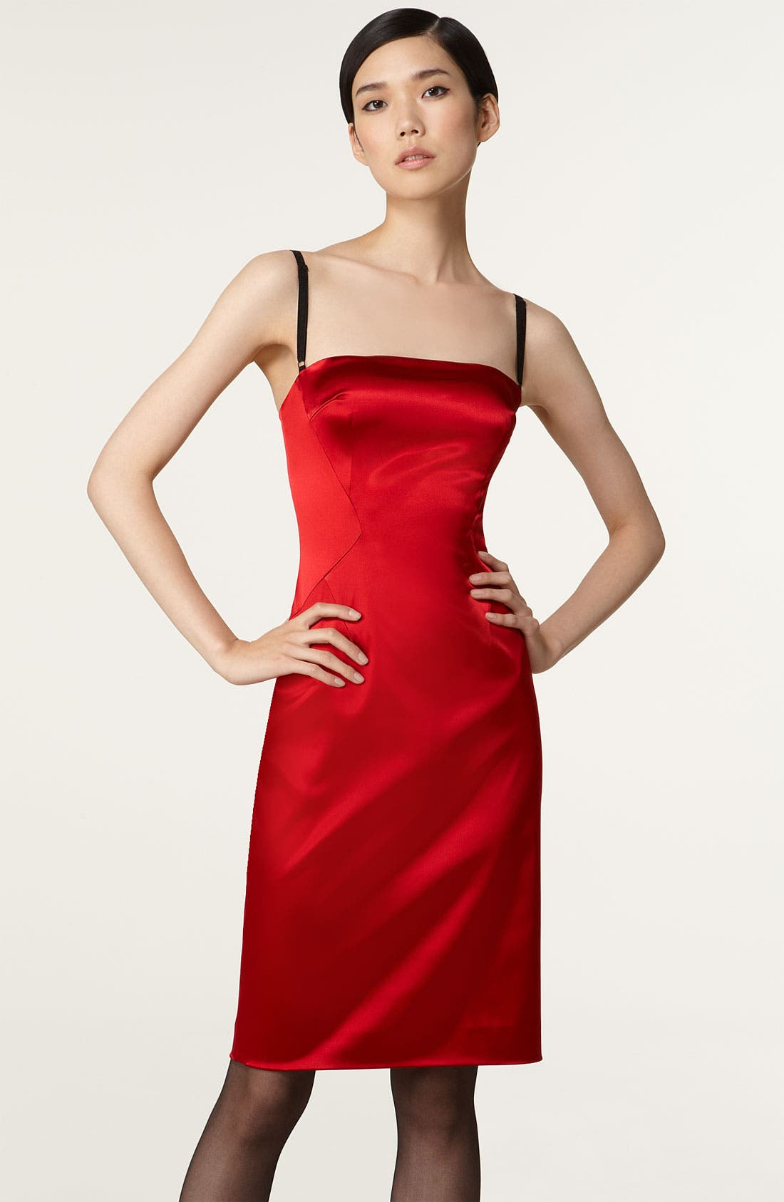 Main Image - D&G Stretch Satin Camisole Dress