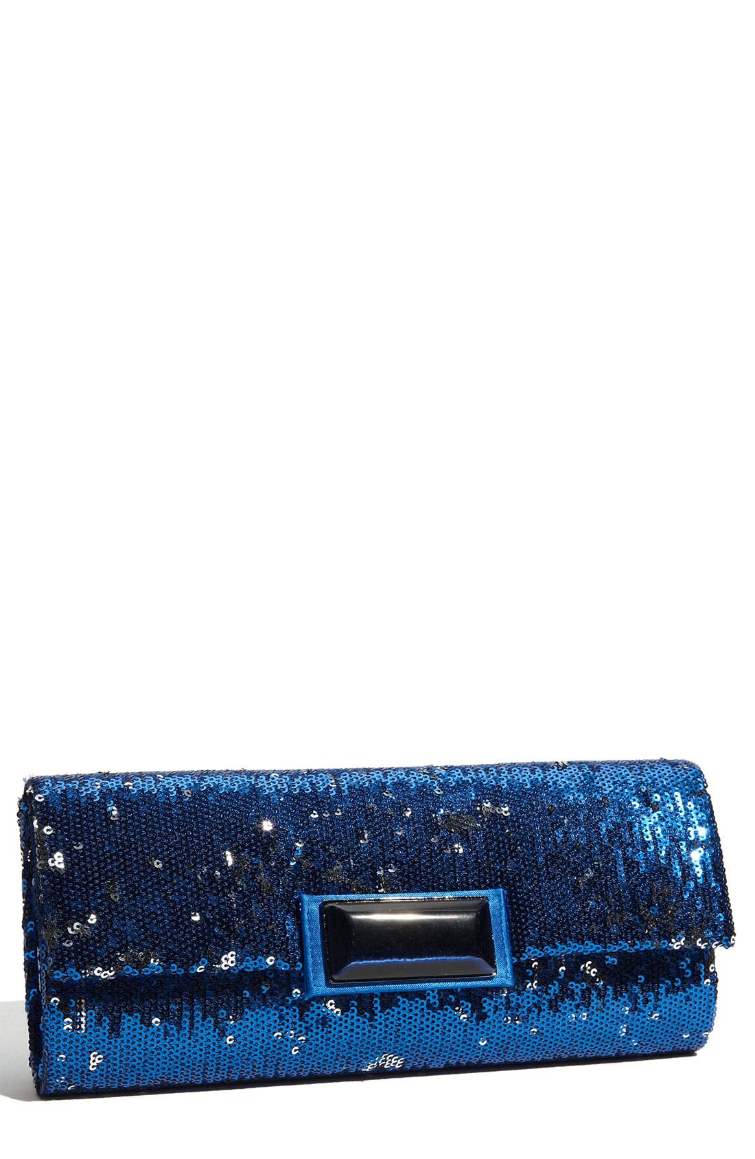 Main Image - Glint Sequin Frame Clutch