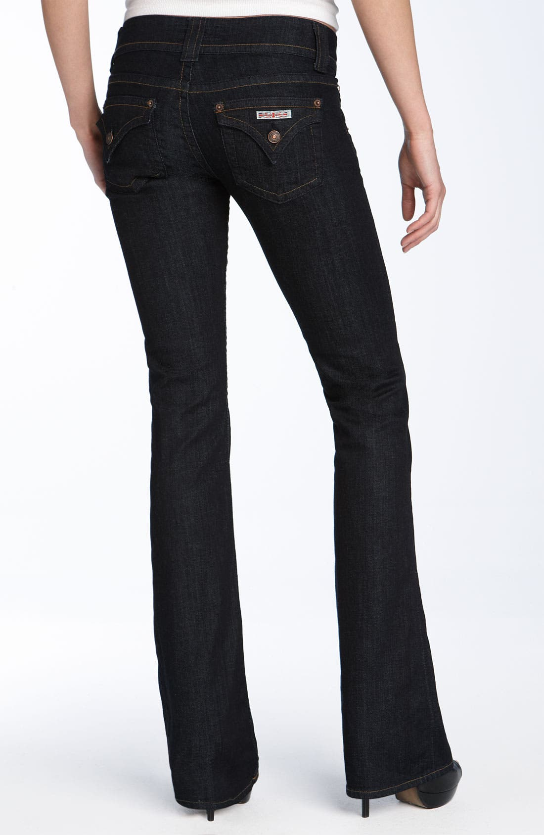 Alternate Image 2  - Hudson Jeans Triangle Pocket Bootcut Stretch Jeans (Lisa Dark Blue Wash) (Petite)