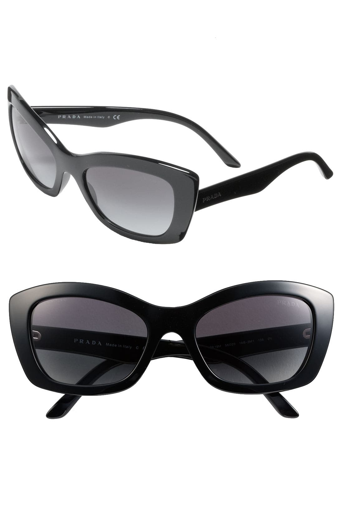 Main Image - Prada Rectangular Cat's Eye Sunglasses