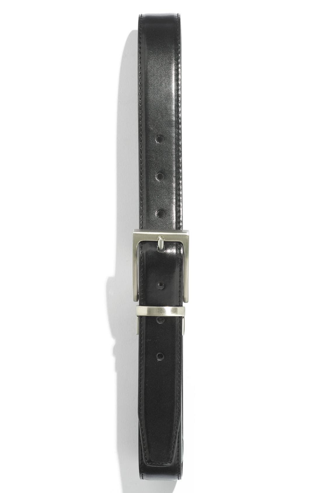 Main Image - Joseph Abboud Reversible Calfskin Belt (Big Boys)