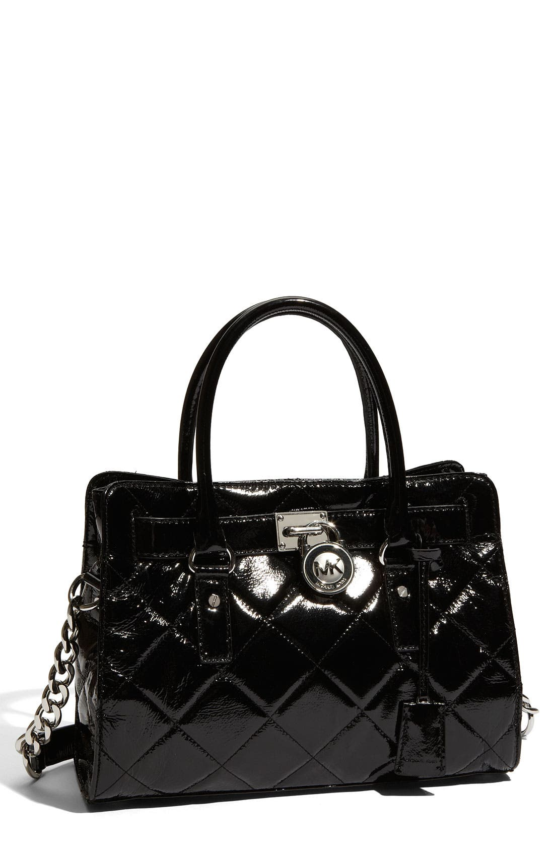 Alternate Image 1 Selected - MICHAEL Michael Kors 'Hamilton' Quilted Leather Satchel