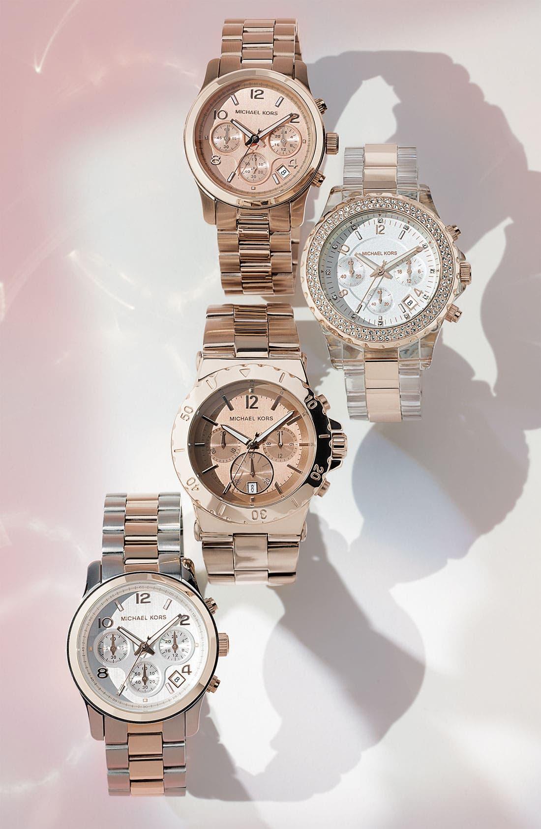 Alternate Image 2  - Michael Kors 'Runway' Chronograph Watch