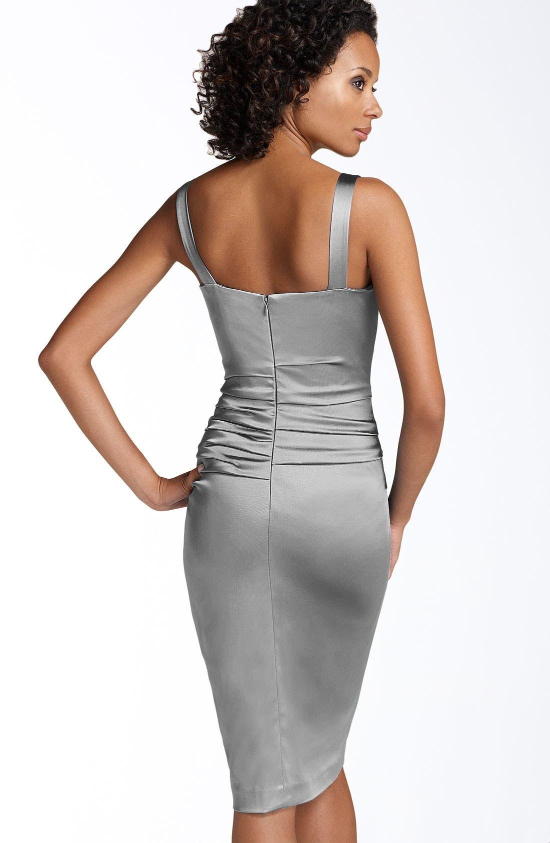 Alternate Image 2  - Suzi Chin for Maggy Boutique Stretch Satin Sheath Dress