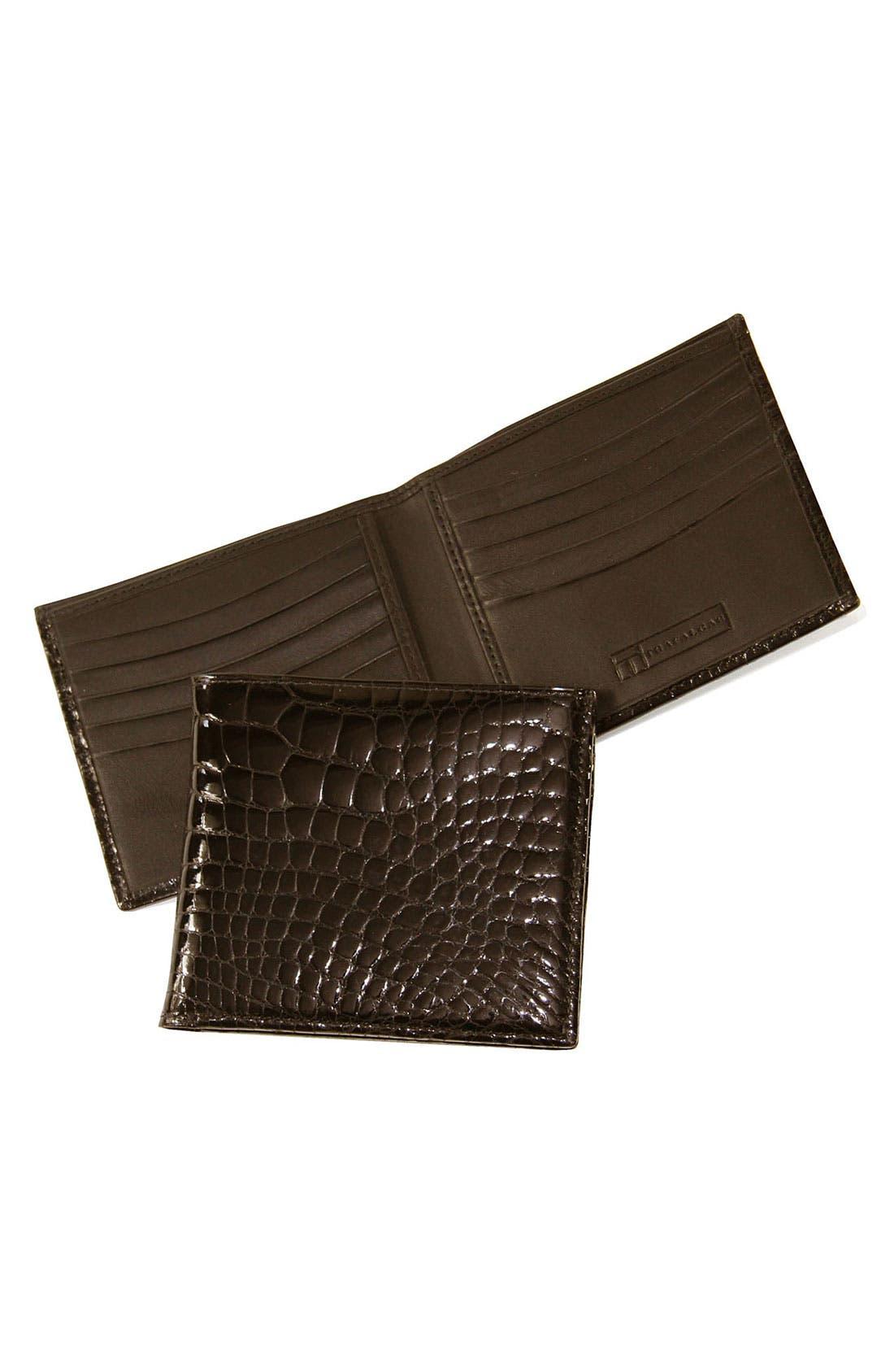 Main Image - Trafalgar Genuine Alligator Wallet