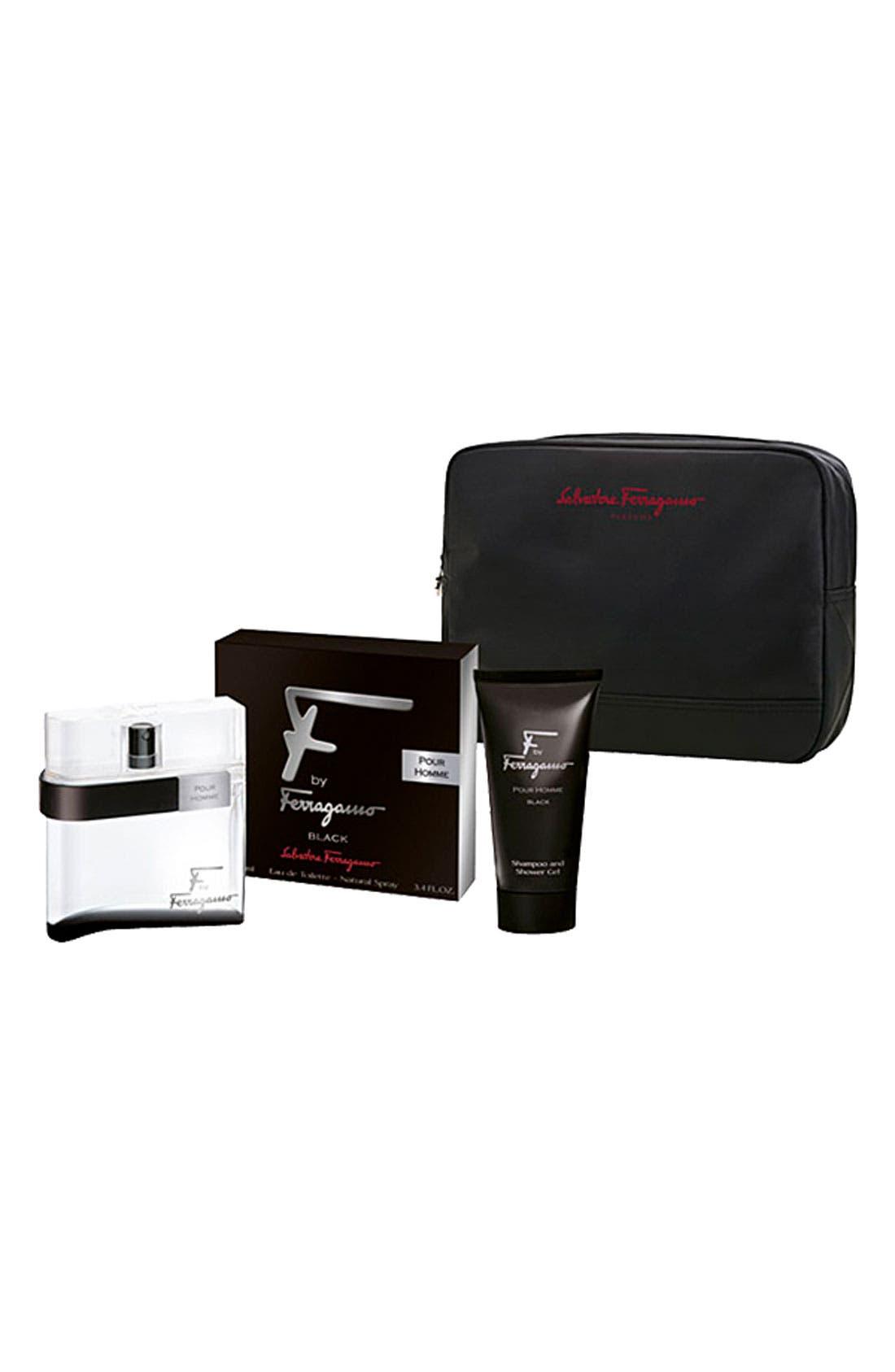 Main Image - Salvatore Ferragamo 'F by Ferragamo pour Homme Black' Set ($95 Value)