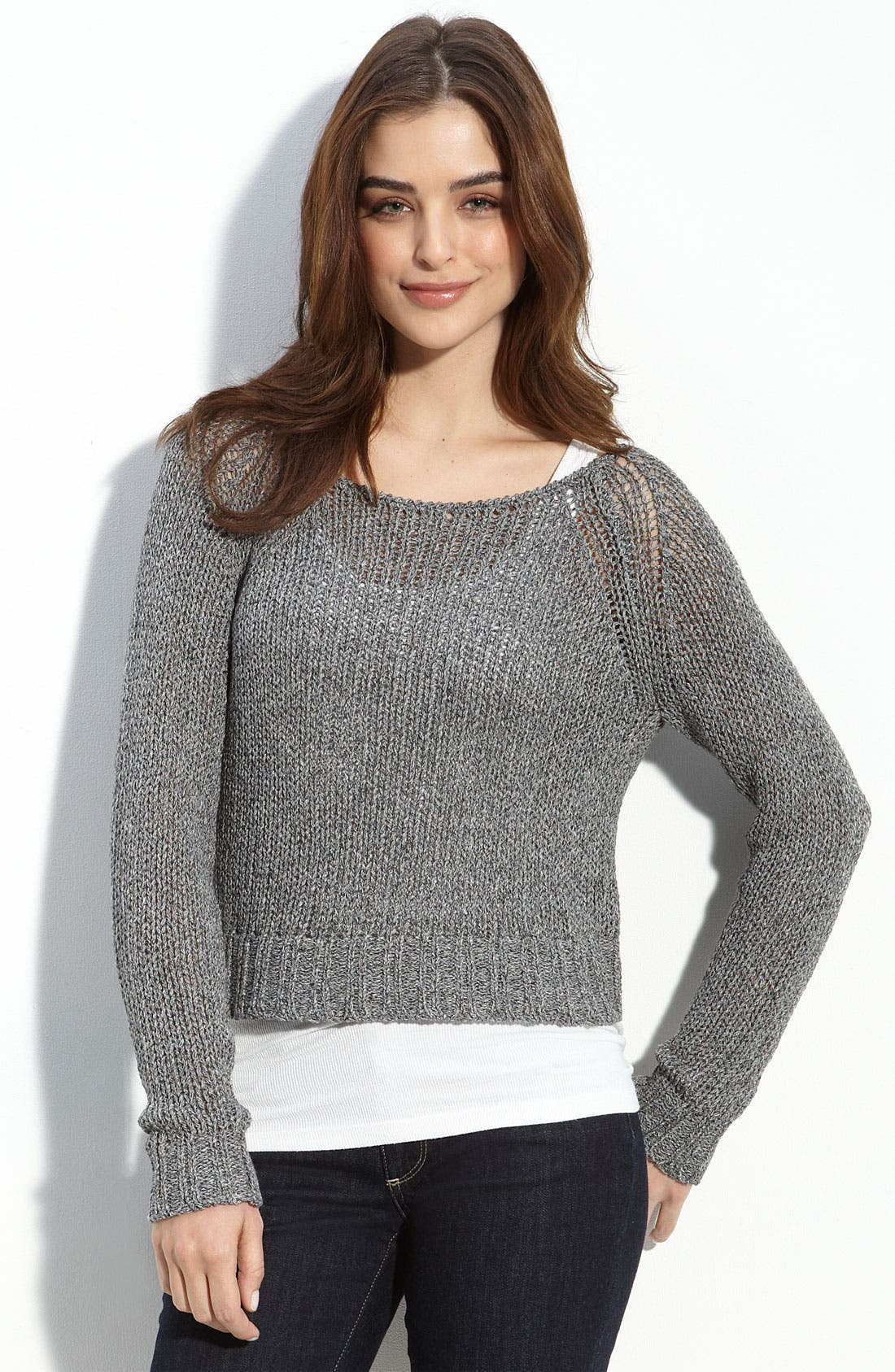 Alternate Image 1 Selected - Trouvé Crop Knit Sweater