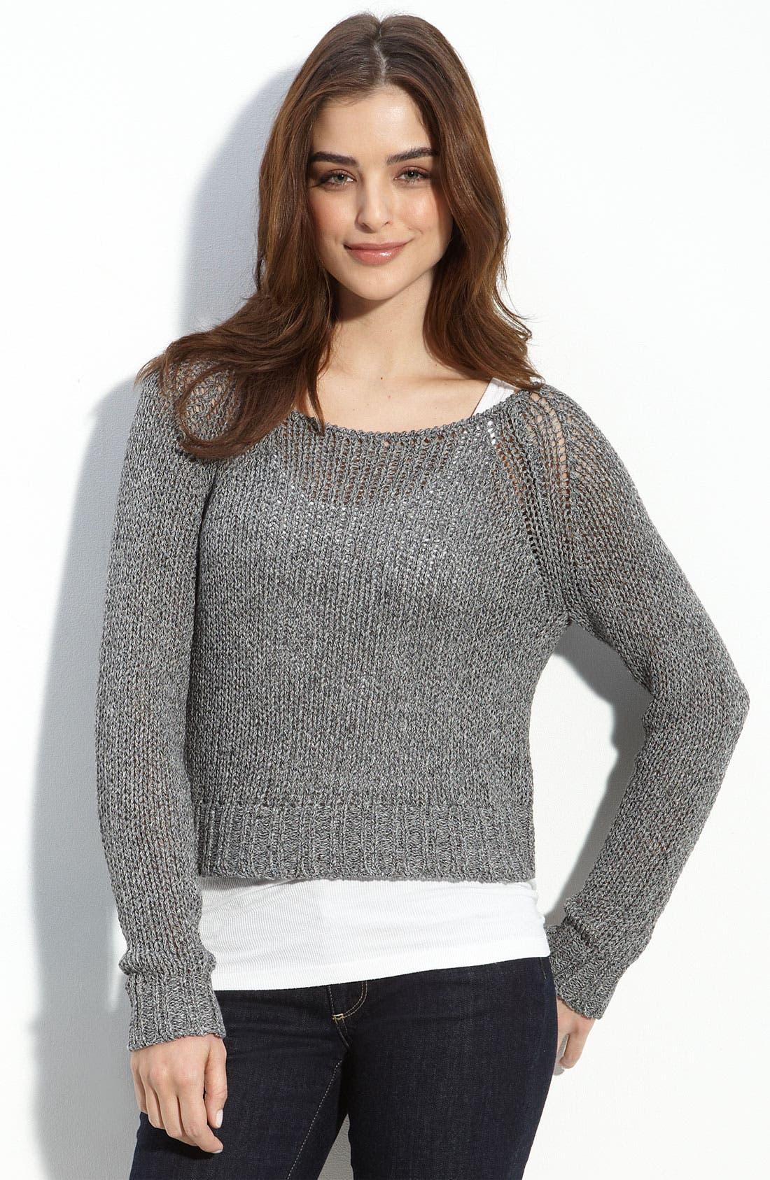 Main Image - Trouvé Crop Knit Sweater