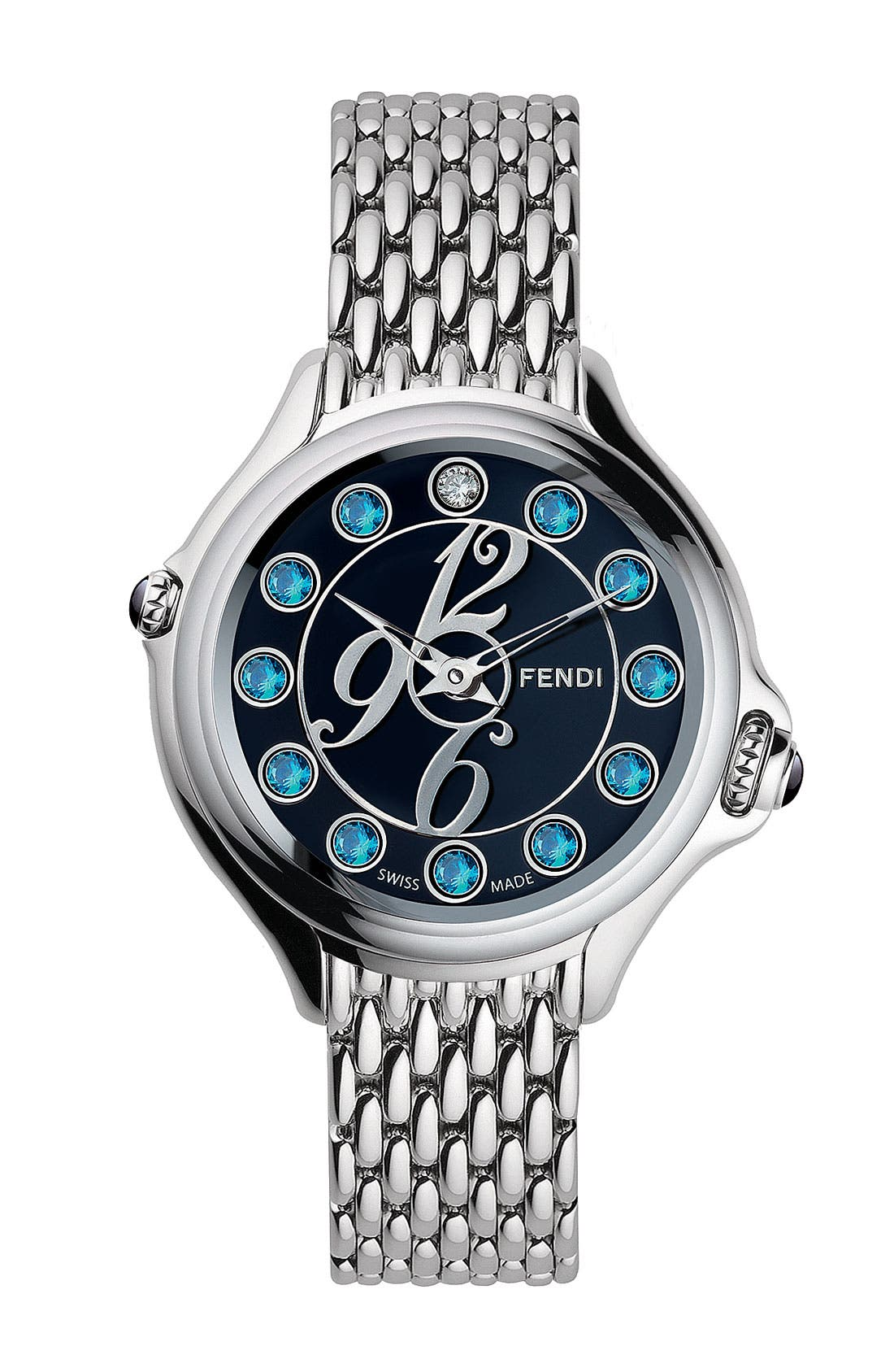 Alternate Image 3  - Fendi 'Crazy Carats' Small Bracelet Watch, 33mm