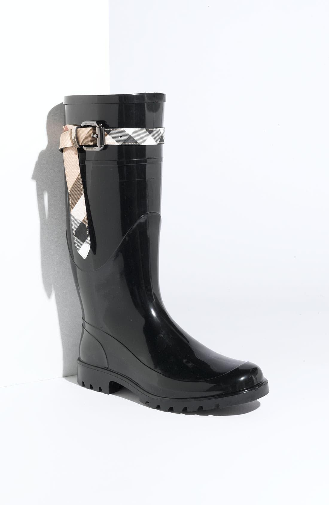 Alternate Image 1 Selected - Burberry Rain Boot