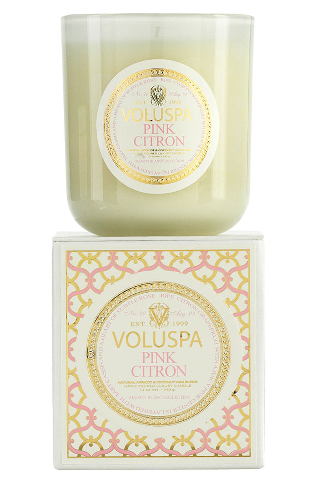 Voluspa 'Maison Blanc - Pink Citron' Boxed Candle