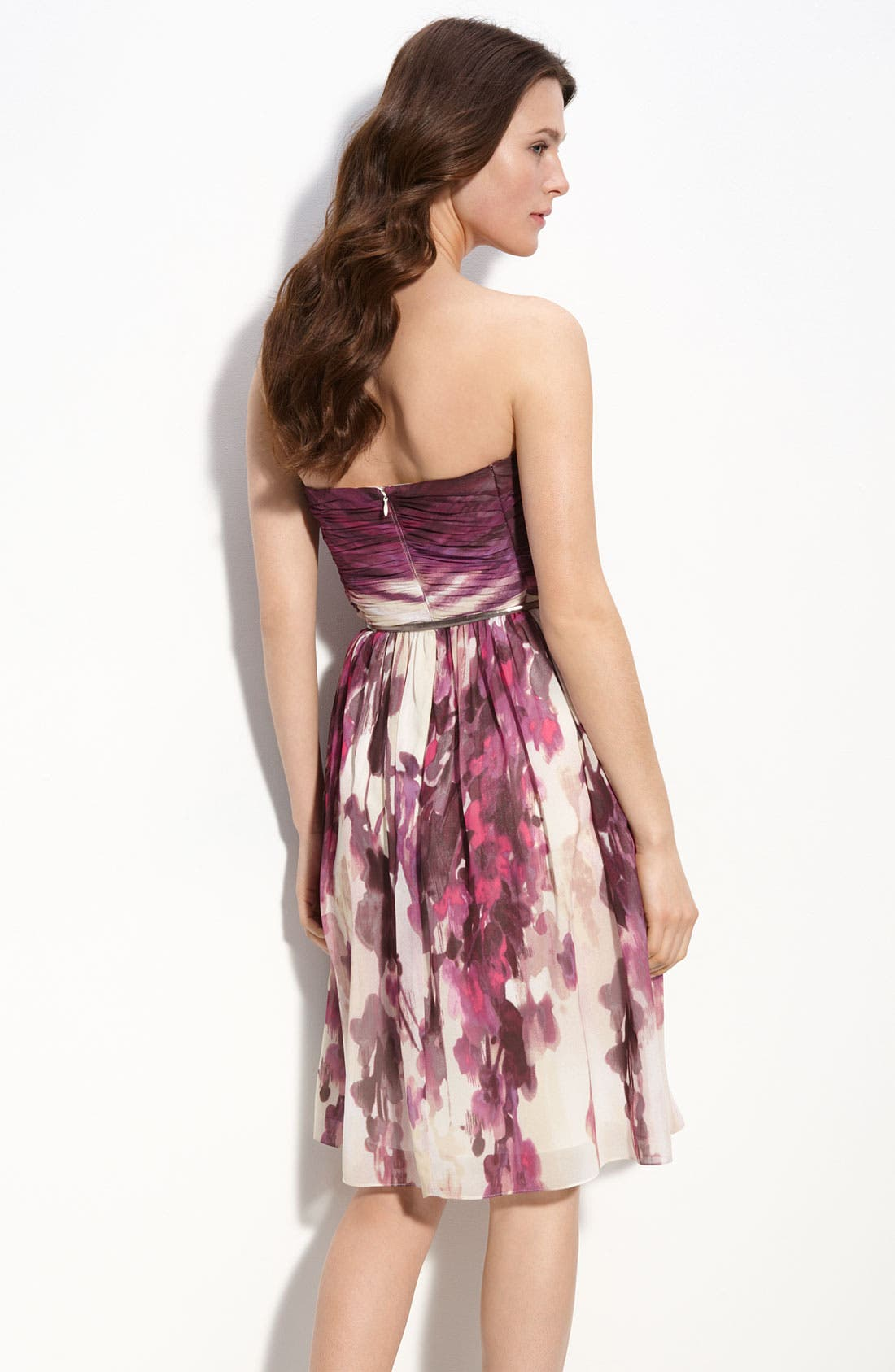 Alternate Image 2  - Donna Morgan Belted Chiffon Dress