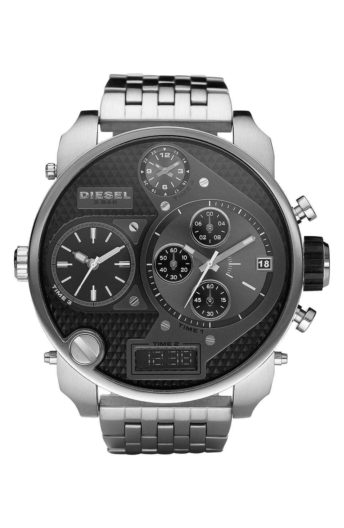 Alternate Image 1 Selected - DIESEL® 'Mr. Daddy' Bracelet Watch, 58mm