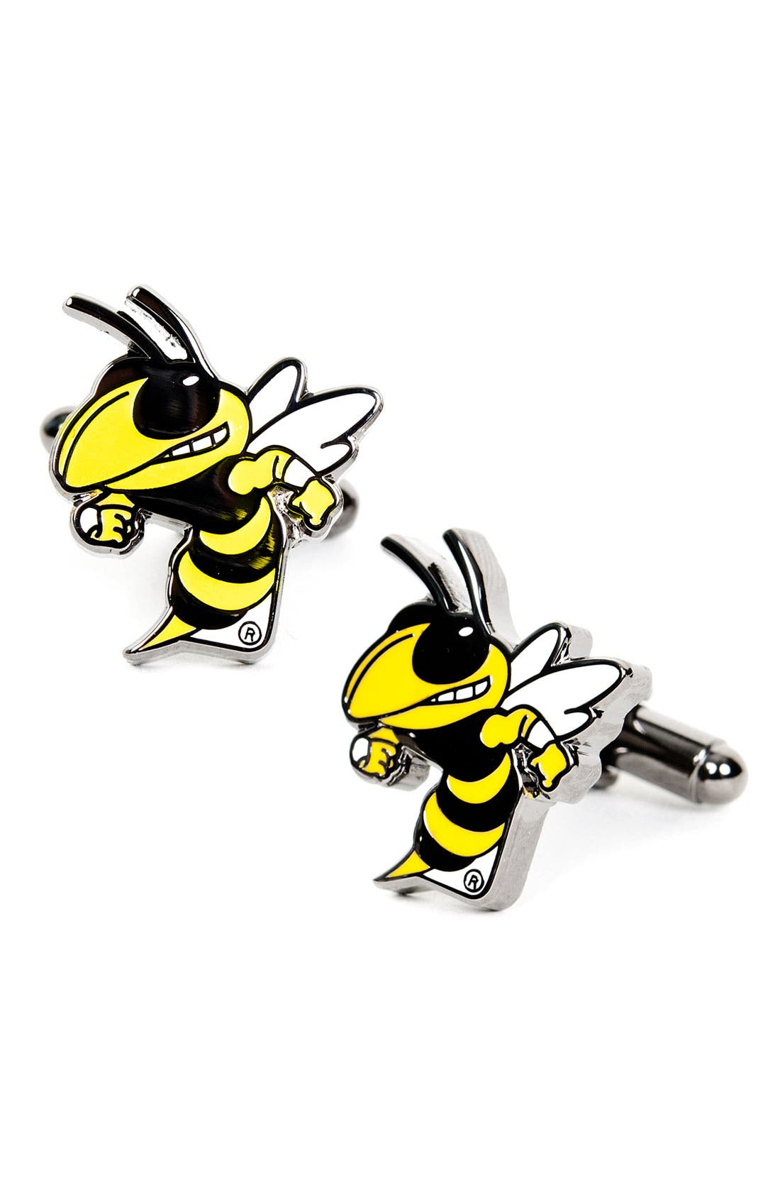 Main Image - Cufflinks, Inc. 'Georgia Tech Yellow Jackets' Cuff Links