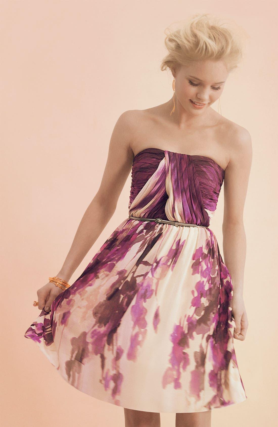 Alternate Image 3  - Donna Morgan Belted Chiffon Dress