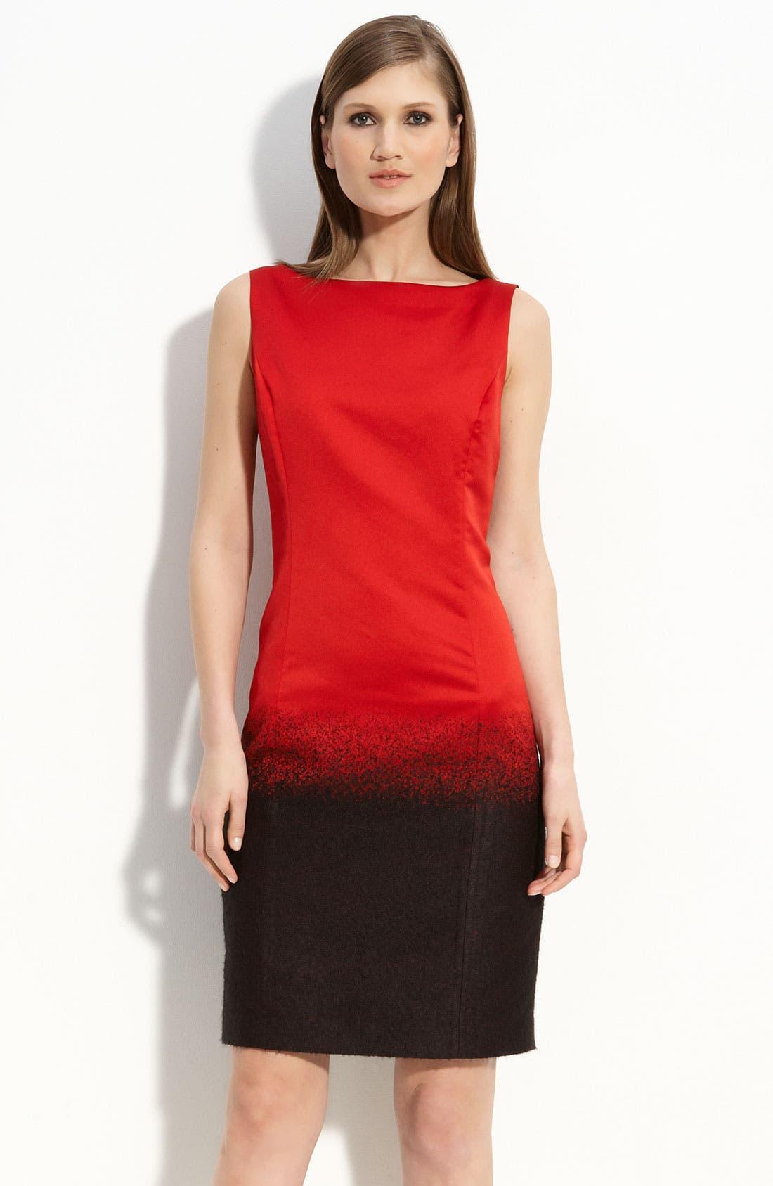 Main Image - St. John Collection Mohair Dégradé Dress