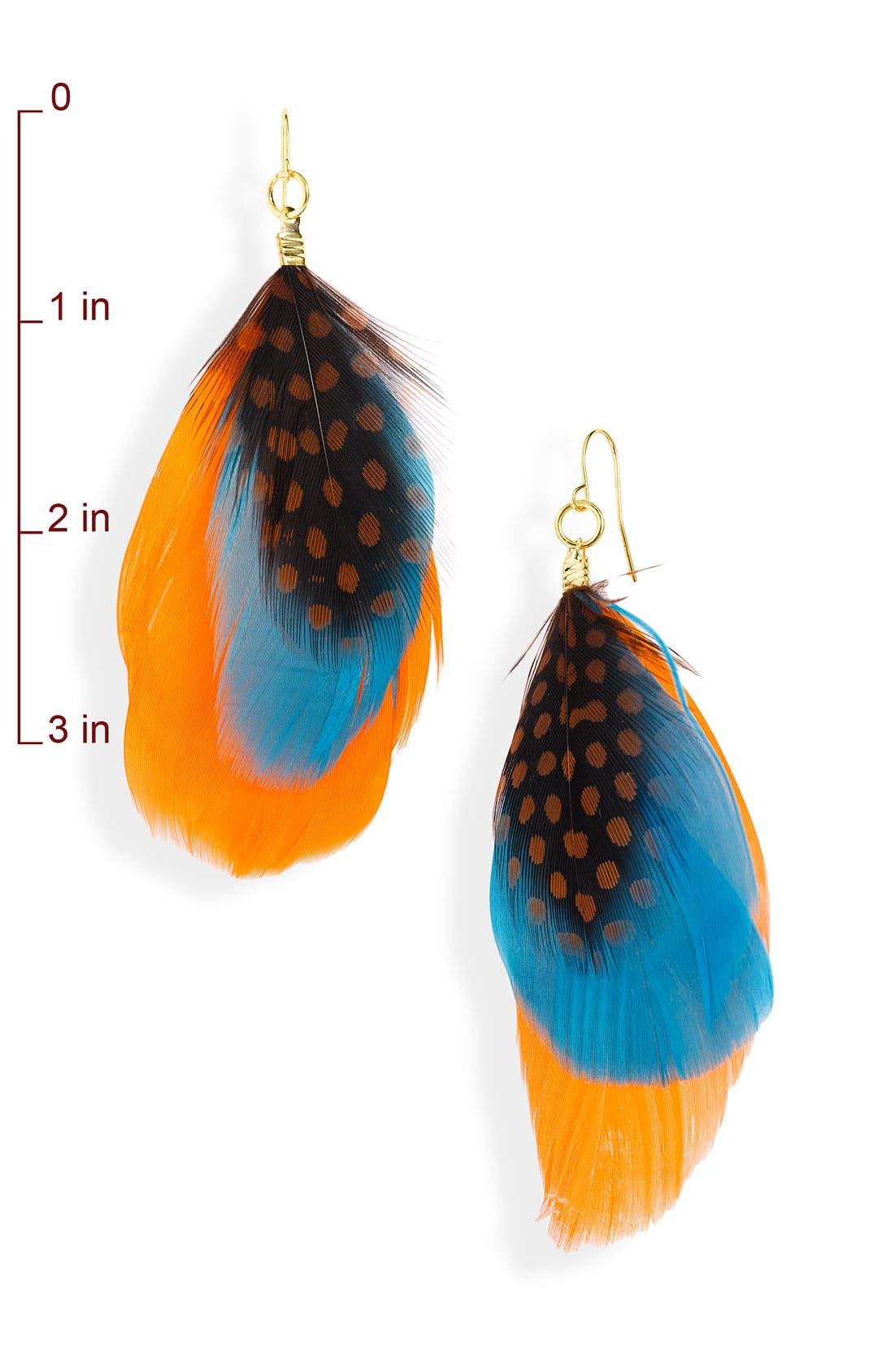 Alternate Image 2  - Stephan & Co. Feather Earrings
