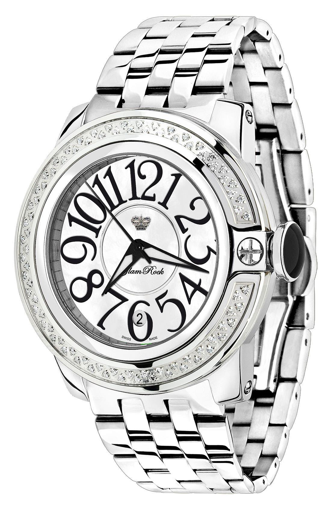 Main Image - Glam Rock 'So Be Diamond' Bracelet Watch
