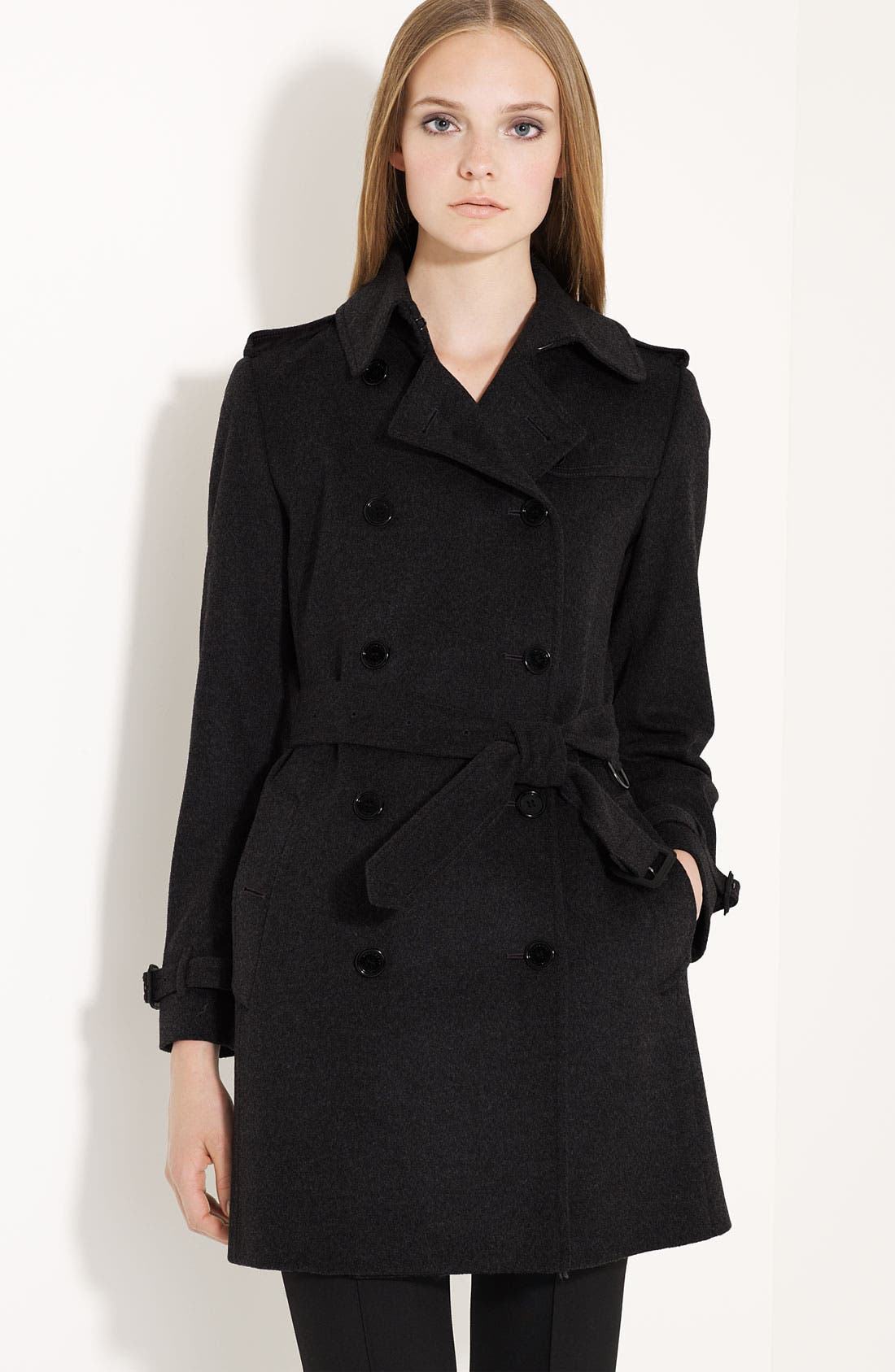 Alternate Image 1 Selected - Burberry London Belted Wool & Cashmere Trench Coat