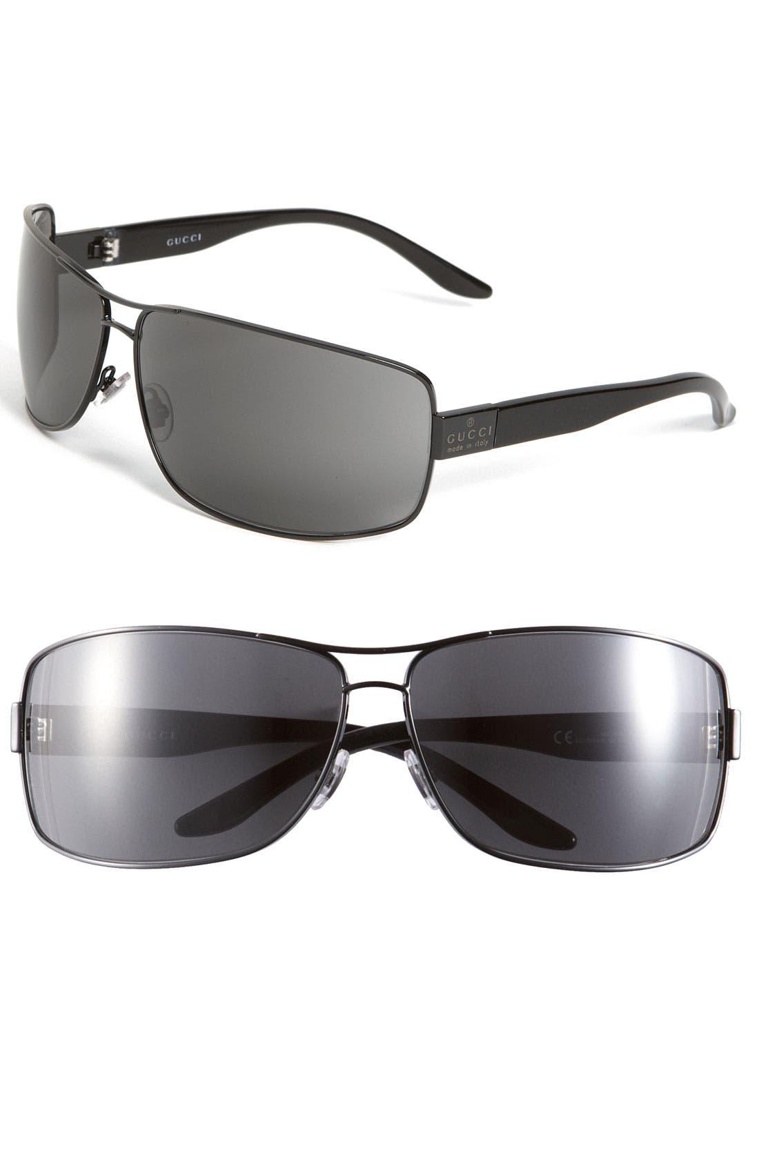 Alternate Image 1 Selected - Gucci Square Aviator Sunglasses