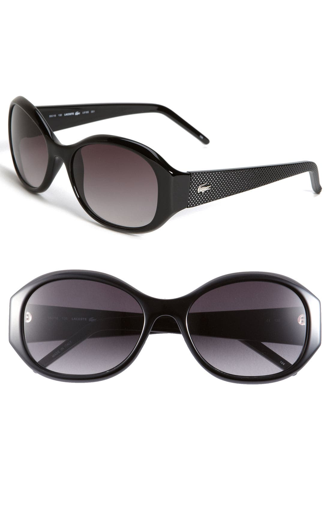 Alternate Image 1 Selected - Lacoste Textured Temple Sunglasses