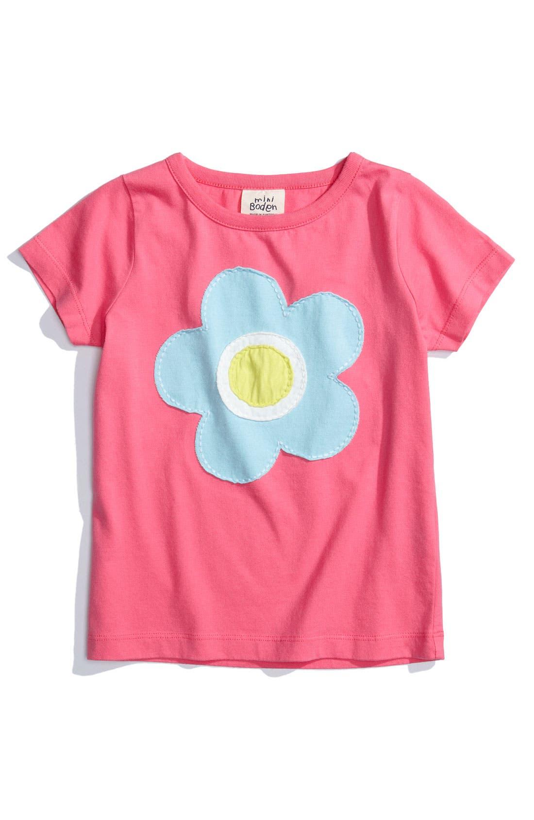 Alternate Image 1 Selected - Mini Boden 'Fun' Appliqué Tee (Toddler)