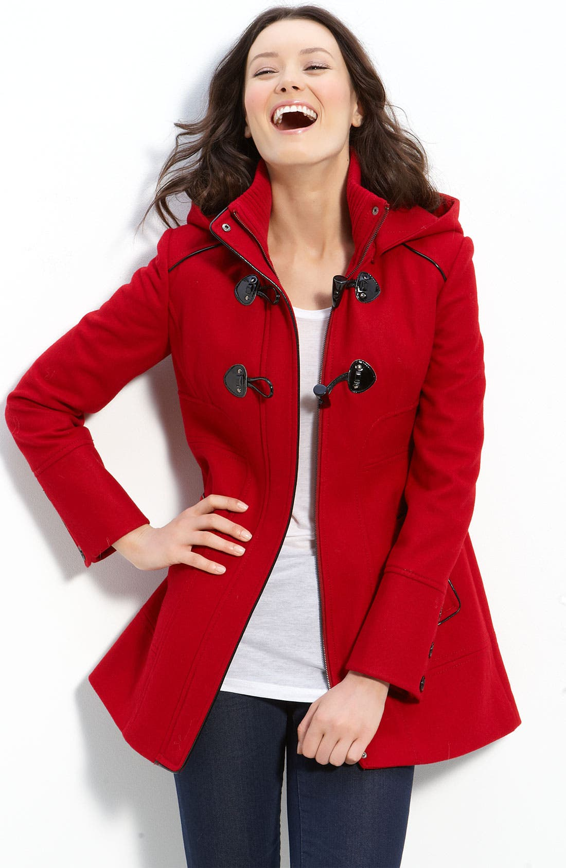Alternate Image 1 Selected - GUESS Toggle Coat with Detachable Hood
