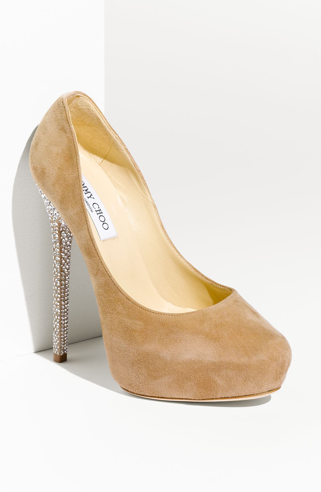 Alternate Image 1 Selected - Jimmy Choo 'Esam' Crystal Heel Platform Pump