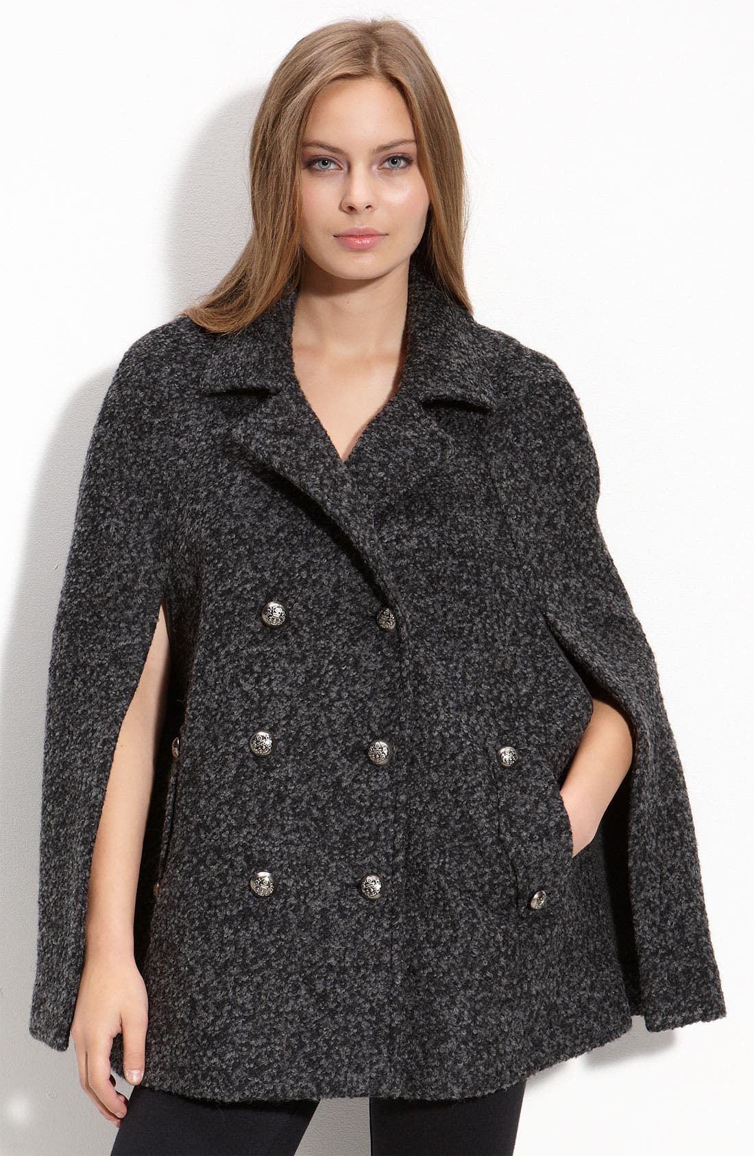 Main Image - Laundry by Shelli Segal Double Breasted Cape (Nordstrom Exclusive)