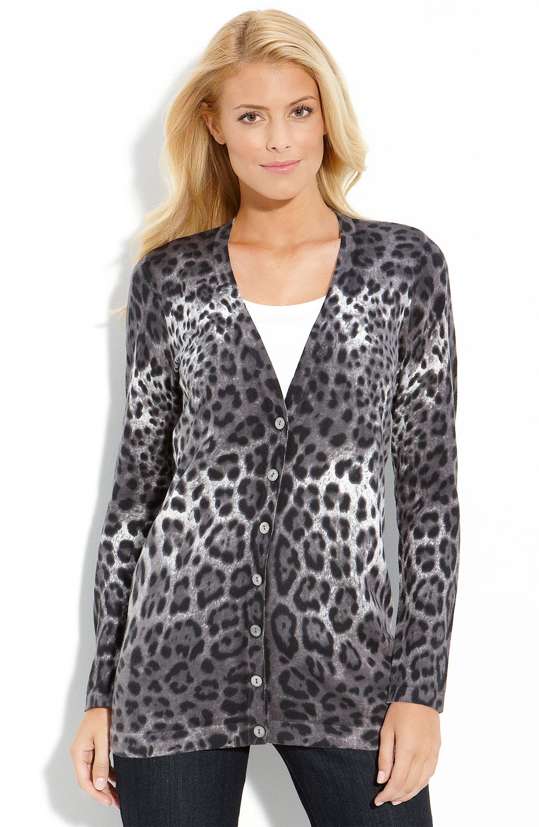 Alternate Image 1 Selected - Amber Sun Print V-Neck Cardigan