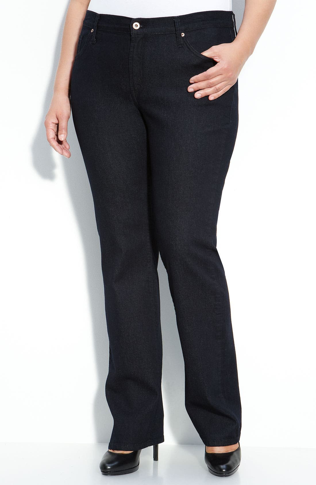 Alternate Image 1 Selected - James Jeans Straight Leg Jeans (Seduction D) (Plus)