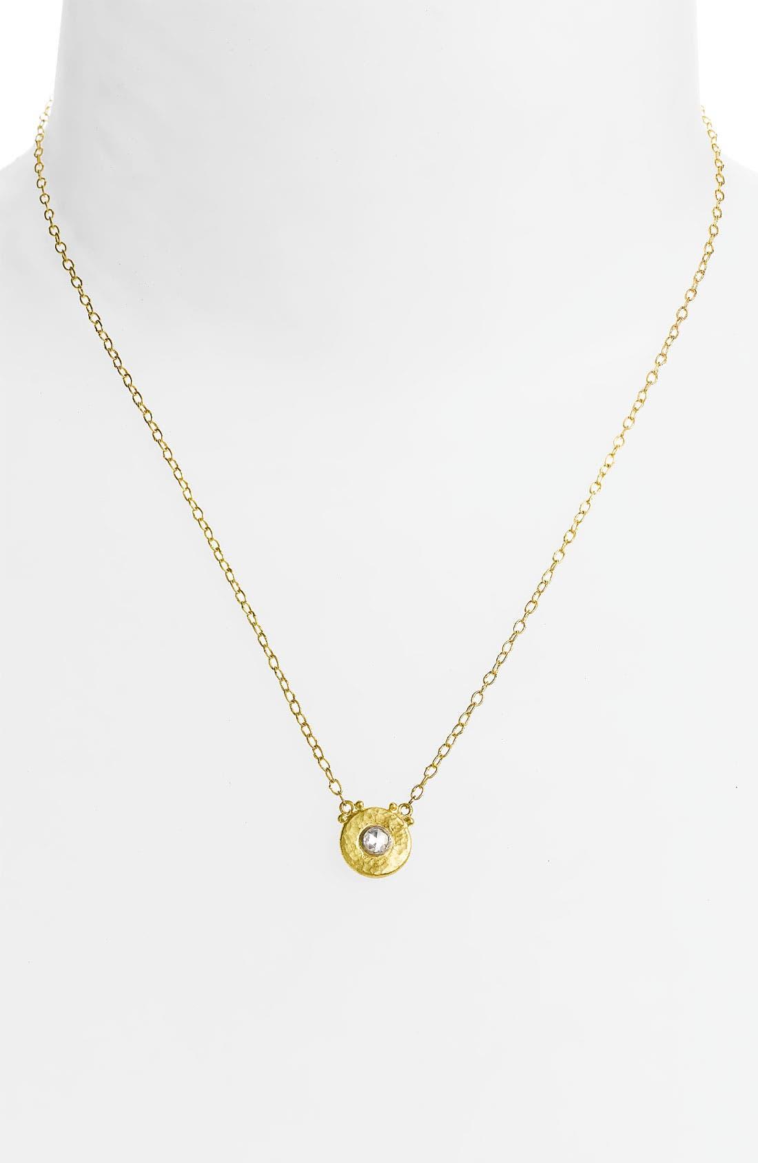 Alternate Image 1 Selected - Gurhan 'Droplet' Diamond Pendant Necklace
