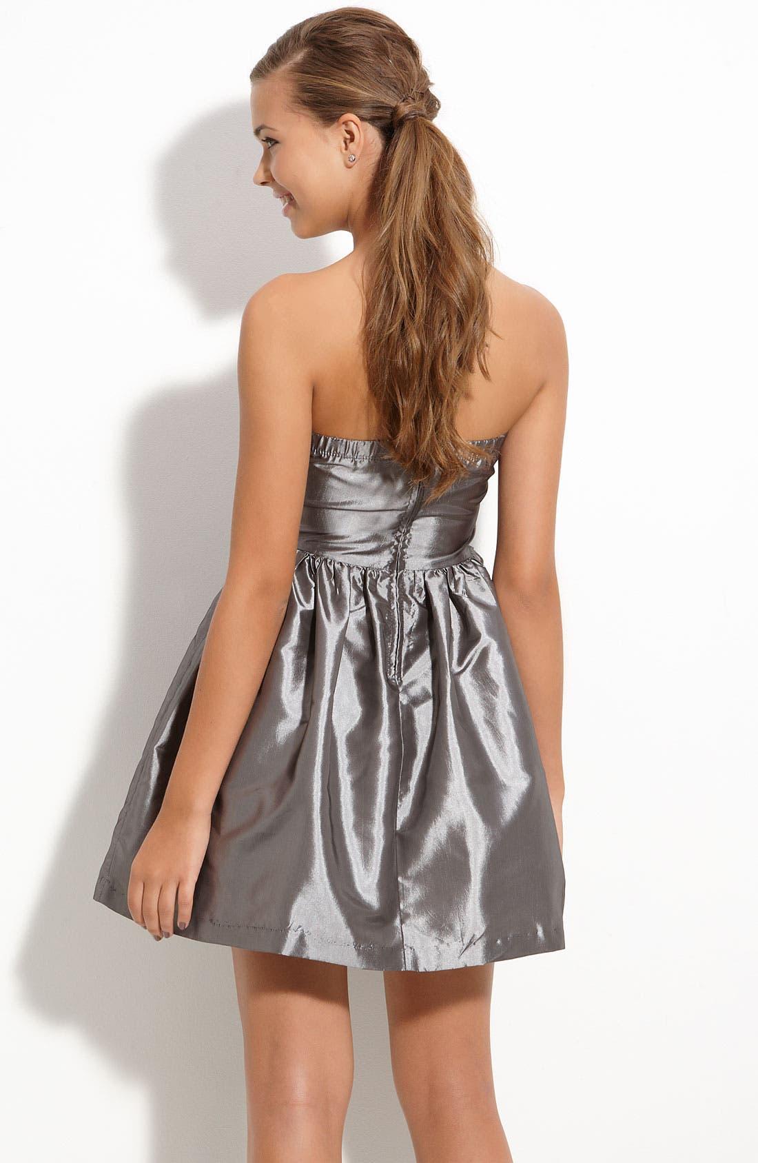 Alternate Image 2  - Trixxi Beaded Waist Party Dress (Juniors)
