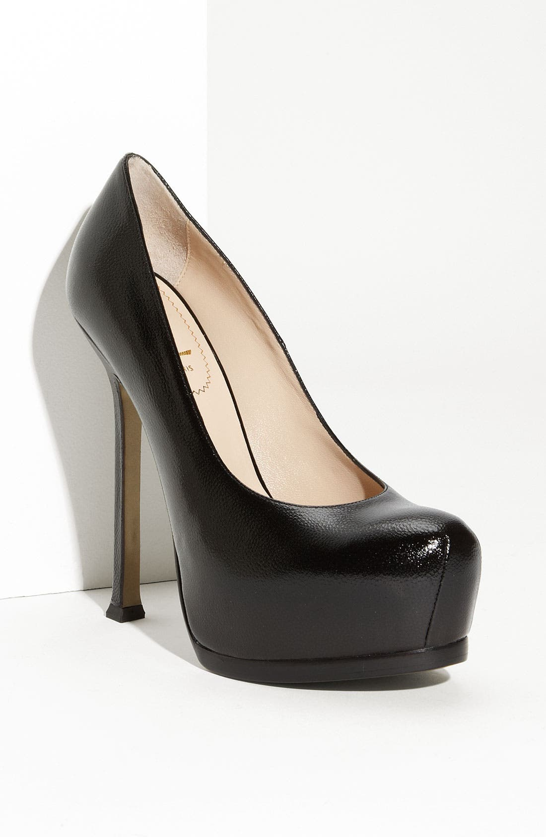 Alternate Image 1 Selected - Saint Laurent 'Tribute Two' Leather Platform Pump