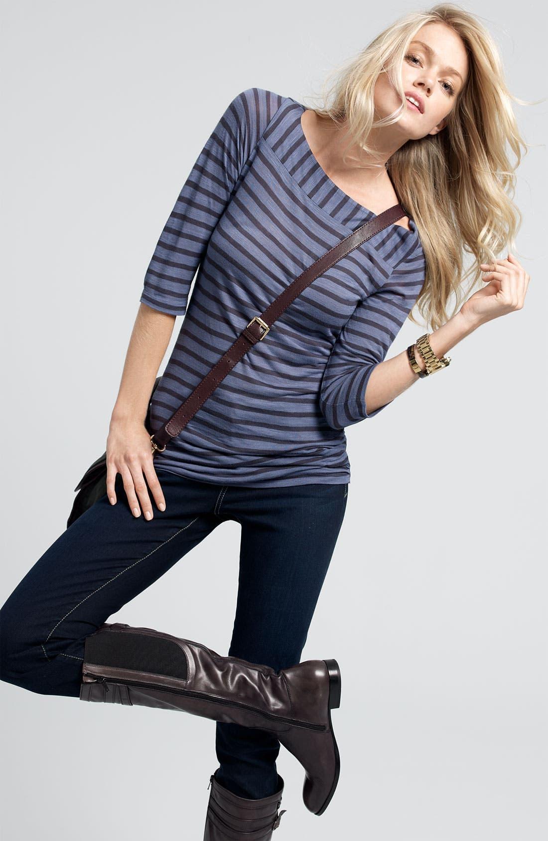 Alternate Image 2  - Caslon® Shirred Side Top