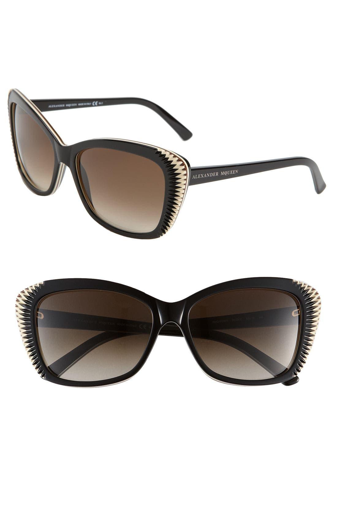 Main Image - Alexander McQueen Cat's Eye Sunglasses