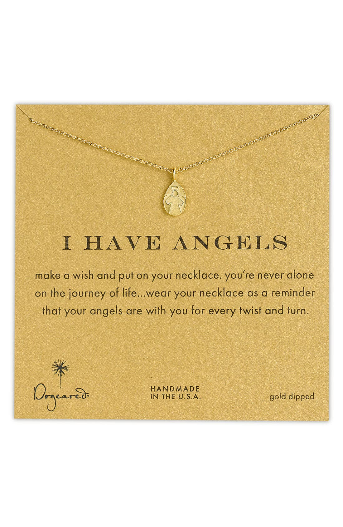Alternate Image 1 Selected - Dogeared 'Reminder - I Have Angels' Pendant Necklace (Nordstrom Exclusive)