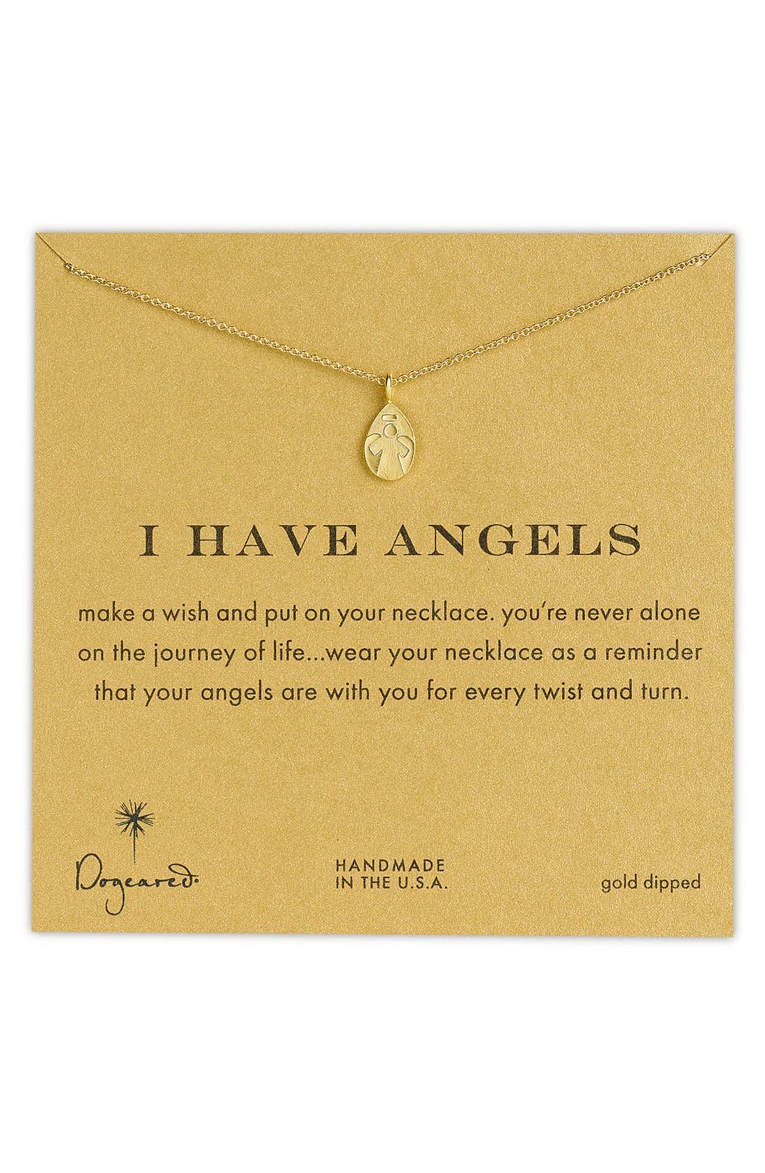 Main Image - Dogeared 'Reminder - I Have Angels' Pendant Necklace (Nordstrom Exclusive)