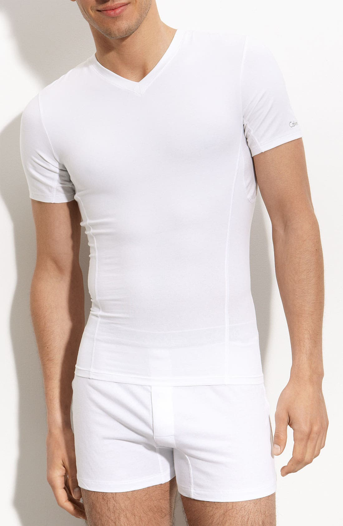 Alternate Image 1 Selected - Core Sculpt by Calvin Klein 'U8603' V-Neck Compression T-Shirt