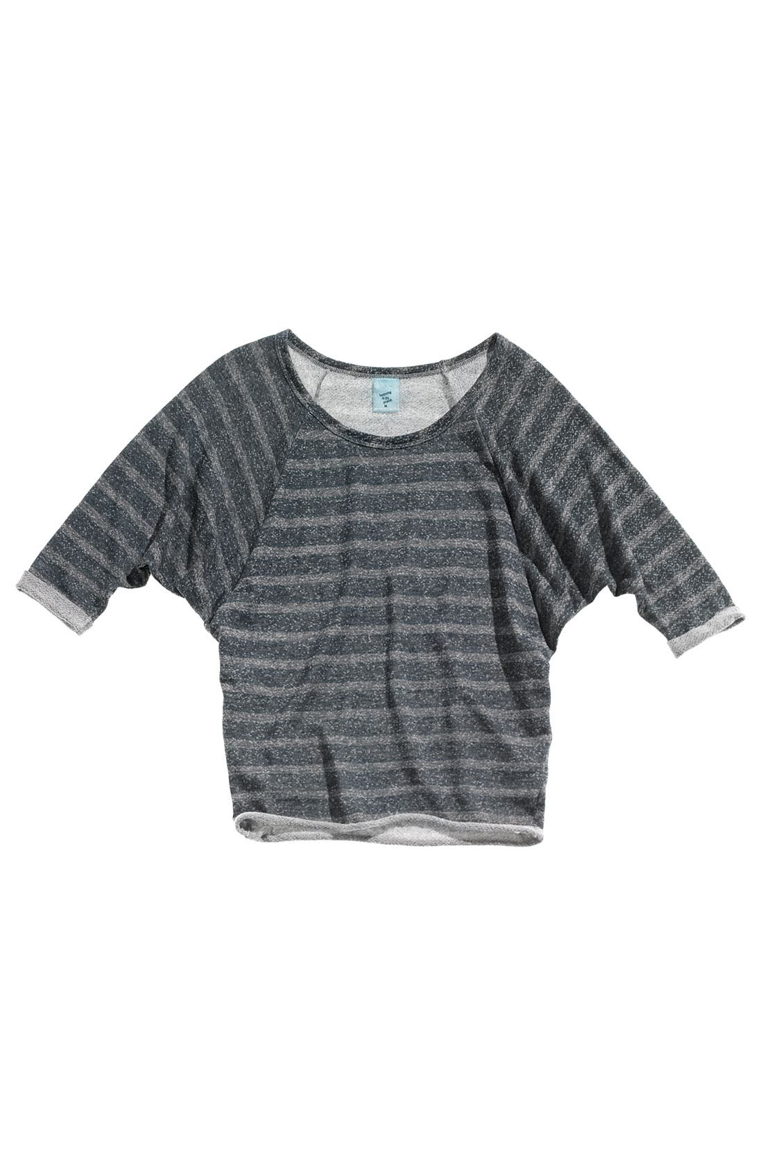 Alternate Image 2  - h.i.p. Raglan Sleeve Fleece Top (Juniors)