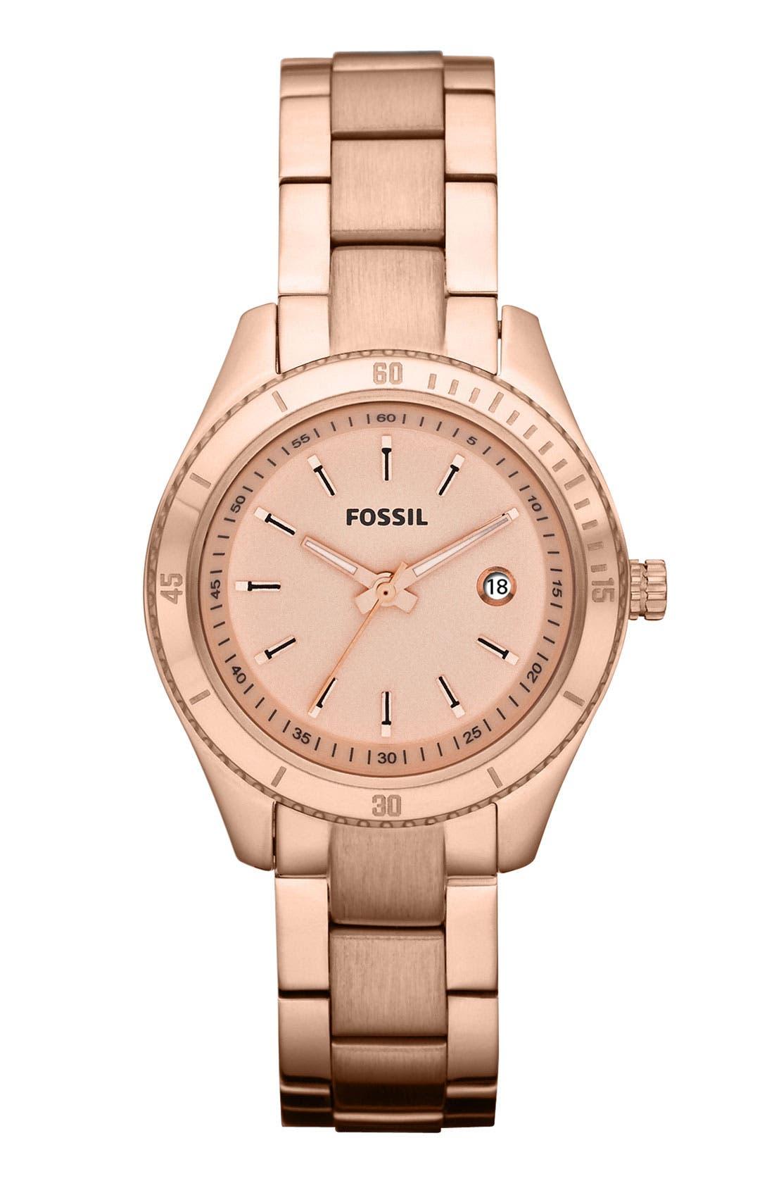 Alternate Image 1 Selected - Fossil 'Mini Stella' Bracelet Watch, 30mm