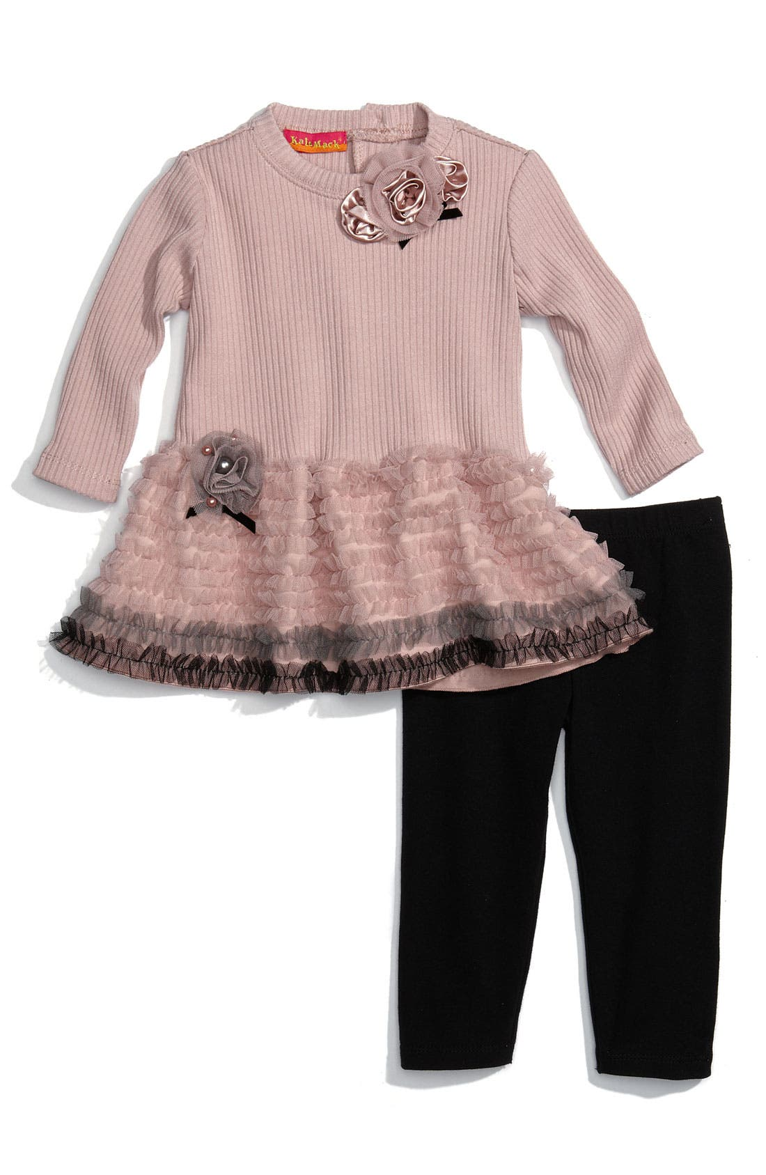 Main Image - Biscotti Ruffle Tunic & Legging Set (Infant)
