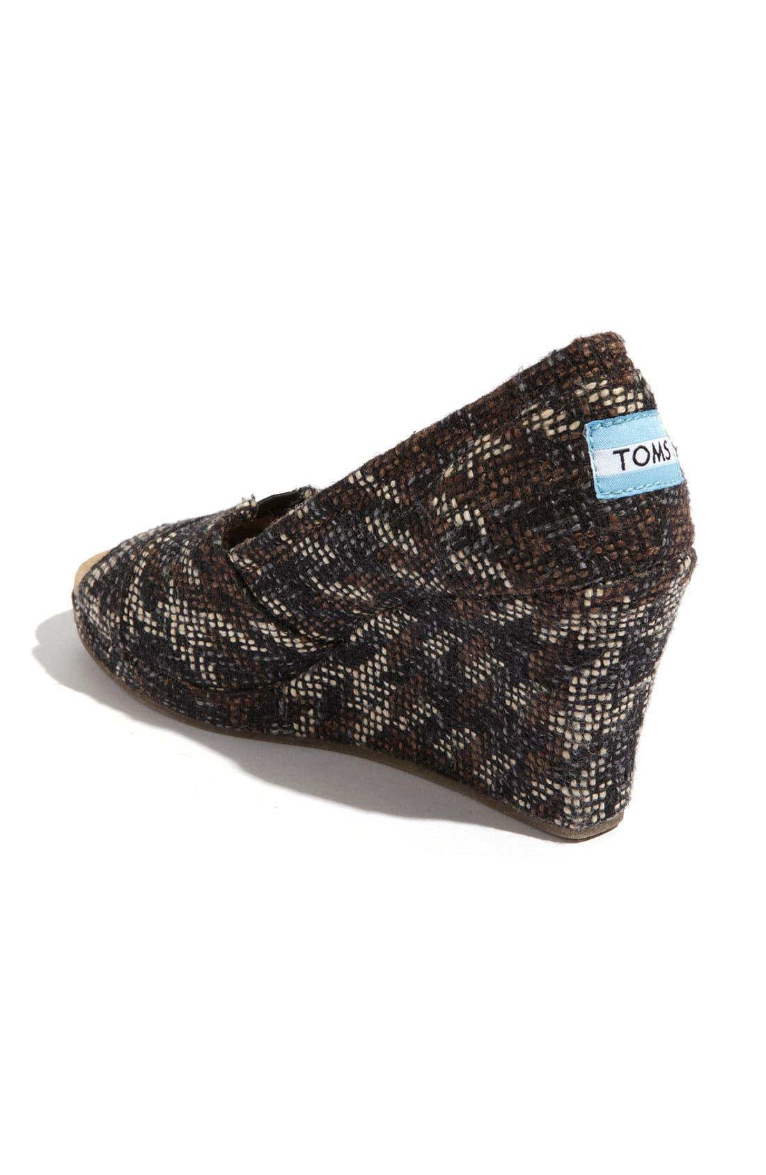 Alternate Image 2  - TOMS Fabric Wedge (Women)