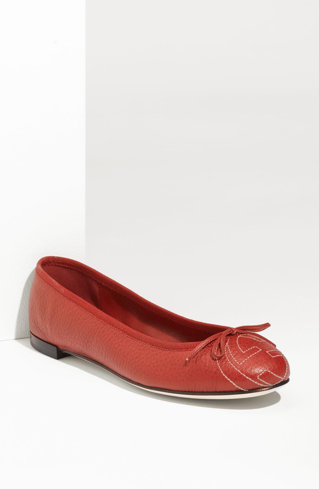 Alternate Image 1 Selected - Gucci 'Soho' Ballerina Flat