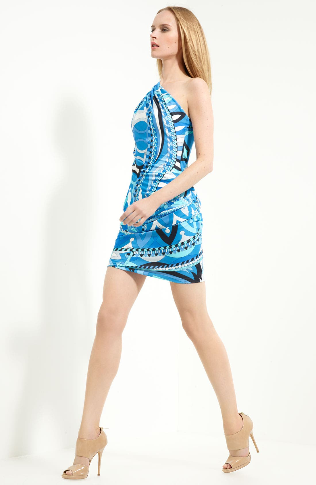 Alternate Image 1 Selected - Emilio Pucci 'Icon Print' One Shoulder Jersey Dress