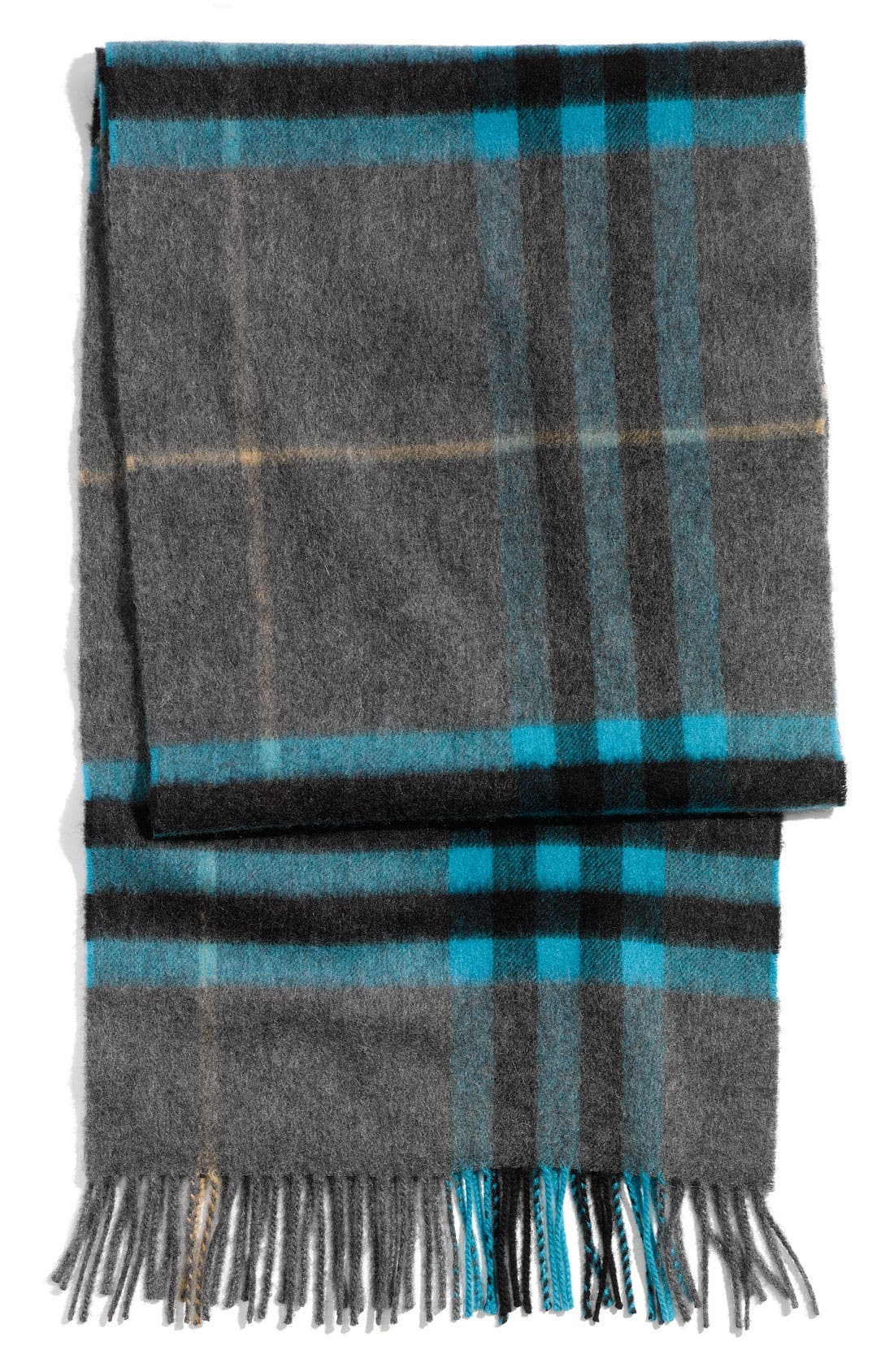 Main Image - Burberry Check Print Cashmere Scarf